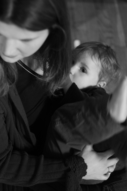 Tanya and Milo nursing in 2009.