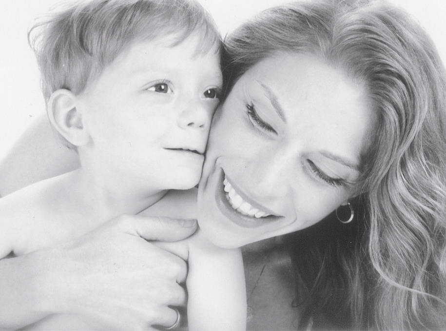 Jenny Langbehn and her sweet son, Robby.