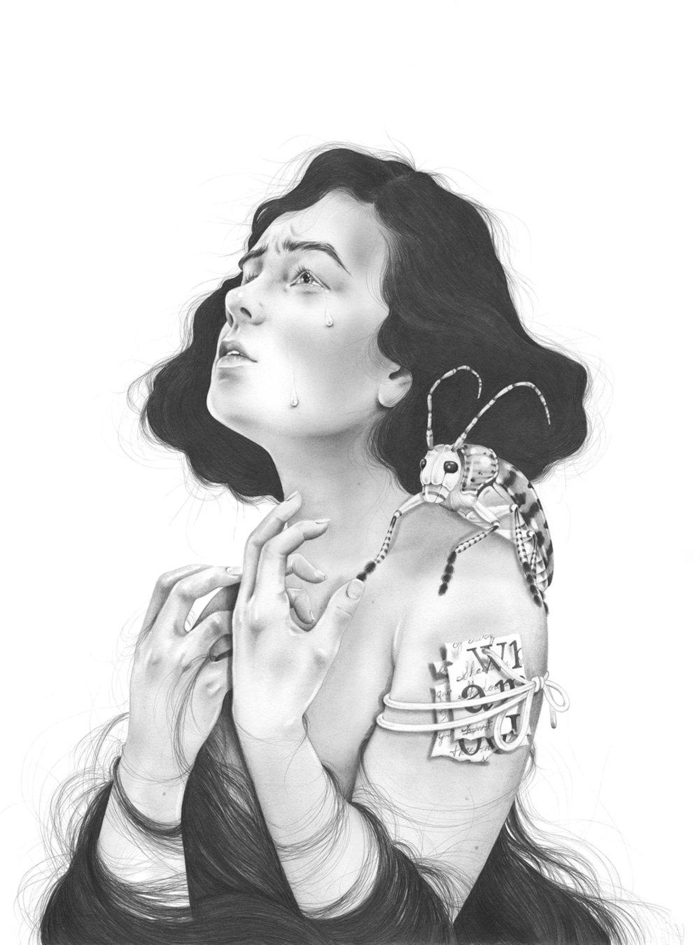 LSD & The Devil | 16x20 | Graphite on Archival Paper