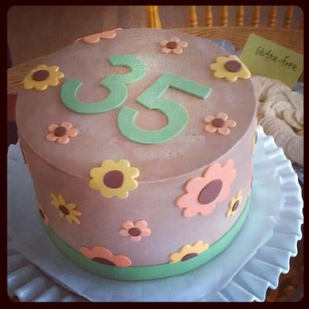 Jonny's cake: devils food, raspberry cream filling and vanilla cream frosting, mmm. (Taken with instagram )
