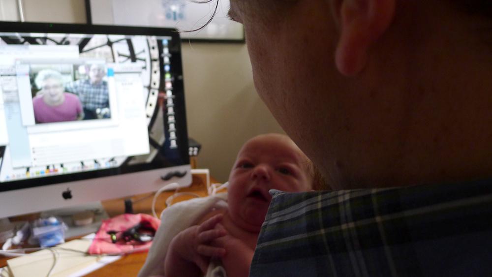 Skype with Grammie & Grandpa.