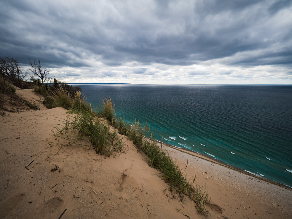 Further into the drive we stopped at Sleeping Bear National Lakeshore to take in the vast view of Lake Michigan and the steep drop to her shores.