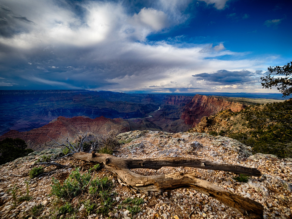 The vast expanse of the Grand Canyon.