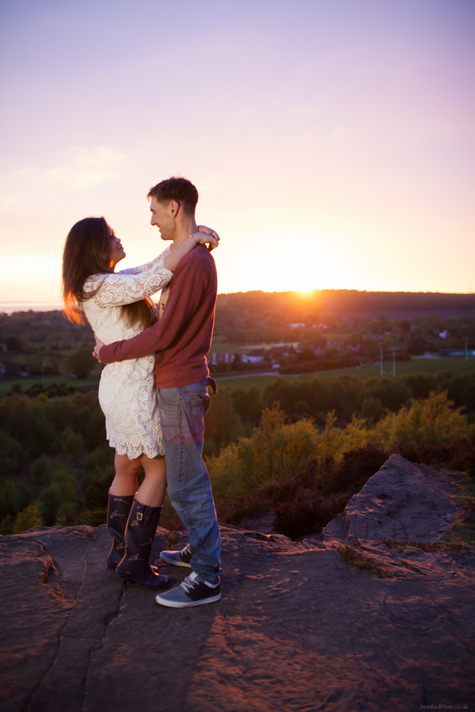 Hayley & David Beautiful Romantic Sunset Prewedding Engagement Shoot at Thurstaston on the Wirral 62.jpg