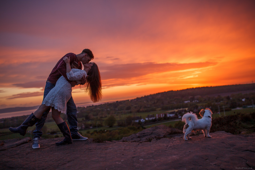Hayley & David Beautiful Romantic Sunset Prewedding Engagement Shoot at Thurstaston on the Wirral 74.jpg