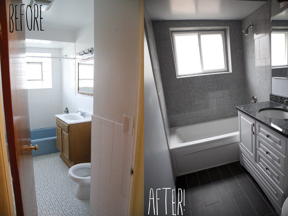 We also completely gutted the full bath and we are very proud of the outcome. We LOVE our new bathroom. Omar even had the window changed!