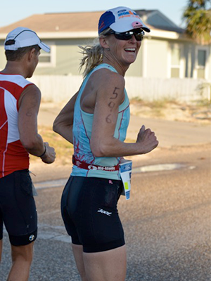 Emily Running the Ironman Triathlon