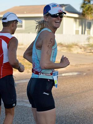 Emily Running the Ironman Triathlon