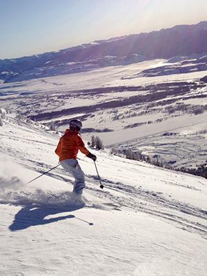 Emily Downhill Skiing