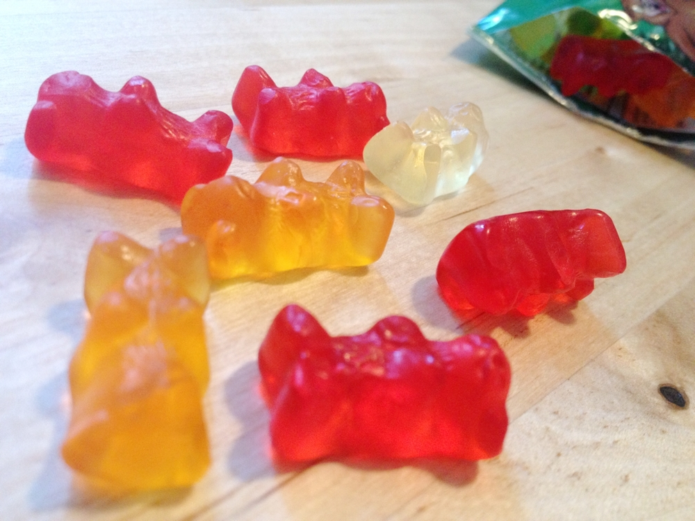 Gummi bears are an appropriate afternoon snack right?