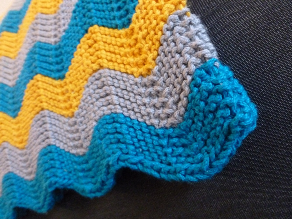 Pattern: Cuddly Chevron Baby Blanket — With Wool