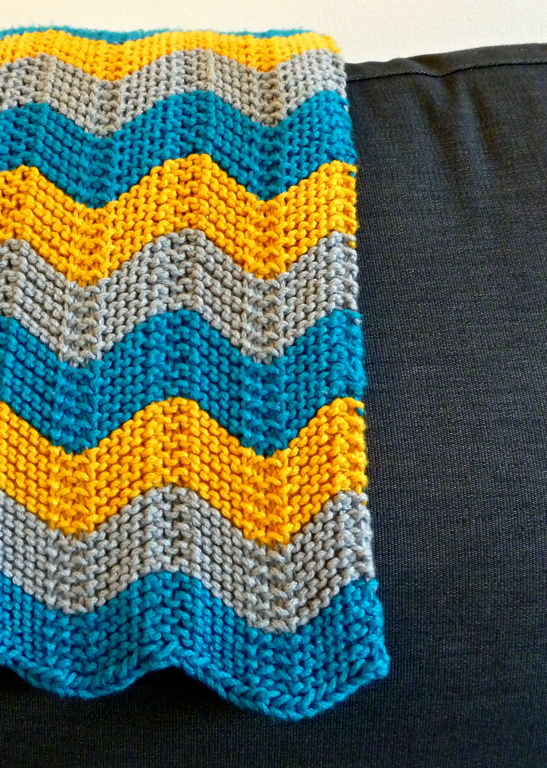 Pattern Cuddly Chevron Baby Blanket With Wool