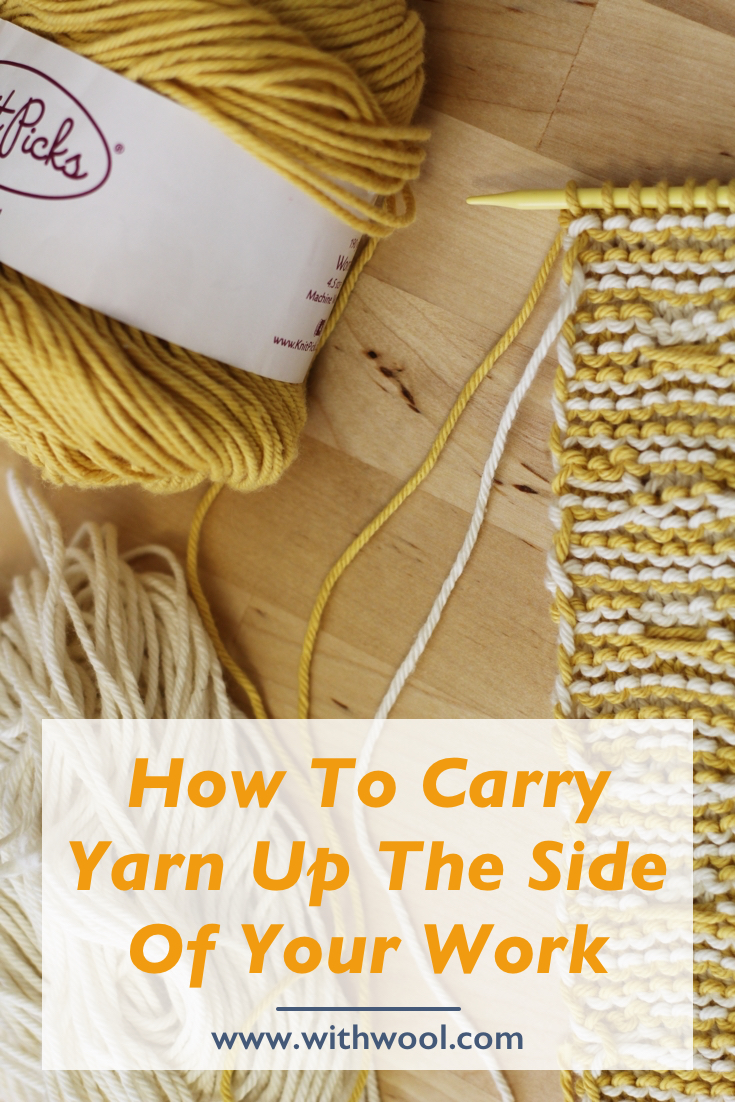 Knitting With Two Colors Carrying Yarn : Stripes and carrying yarn up the side — with wool