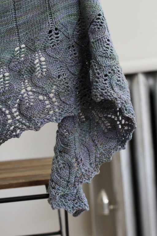 The Crescent Over Lothlorien Shawl was the first thing I knit from my 2015 holiday gift list. So pleased with how it turned out. FO: Crescent Over Lothlorien and Dewberry Cowl- withwool.com
