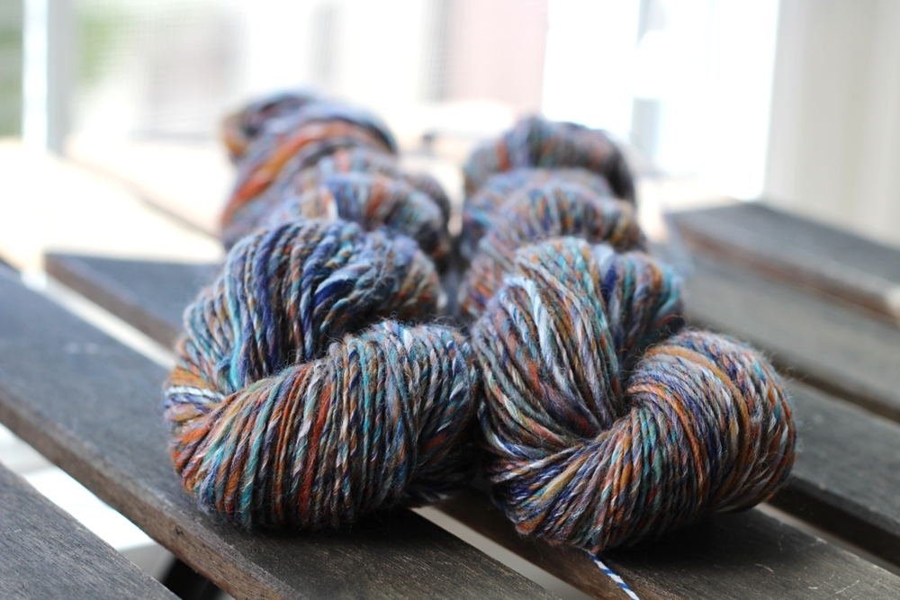 Finished my first handspun yarn of 2016! Now to figure out what to make with it. | Giddy Up Handspun - withwool.com