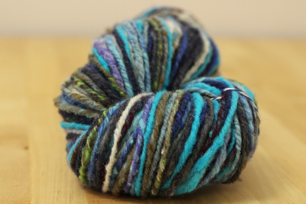 The Noro Rainbow Roll is spun, chain-plied, and finished! It became a beautiful handspun yarn, but what's my final verdict? | Spinning Noro Rainbow Roll Part 2