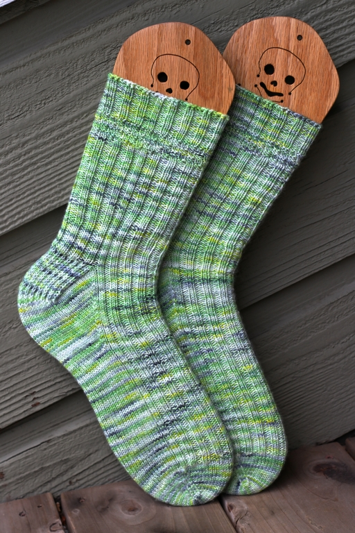 After months of knitting I'm so happy to have these socks on my feet instead of my needles.   FO: Colorado Socks | withwool.com