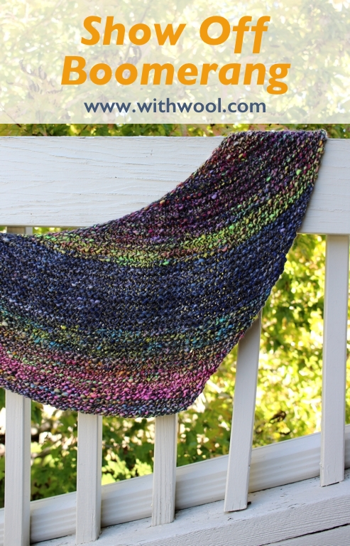 Show Off Boomerang - A free pattern for that one special skein of yarn, handspun or hand dyed, that's a show off all by itself. |   withwool.com
