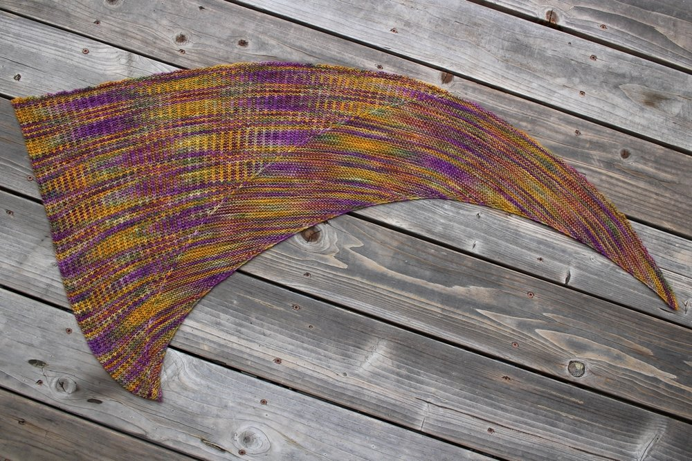 Tame wild, variegated yarn with slip stitches and the Odd Couple Shawl. | withwool.com