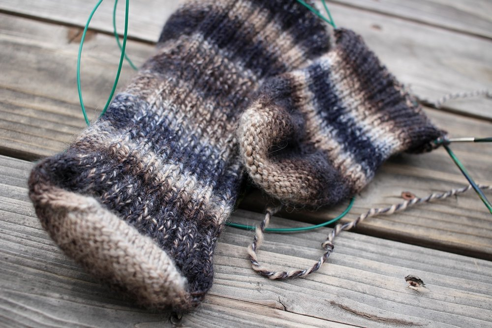 I'm knitting a sock inside out! | withwool.com