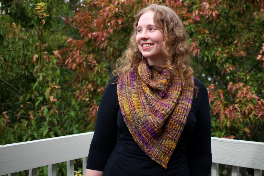 The Odd Couple Shawl by April Klich | withwool.com