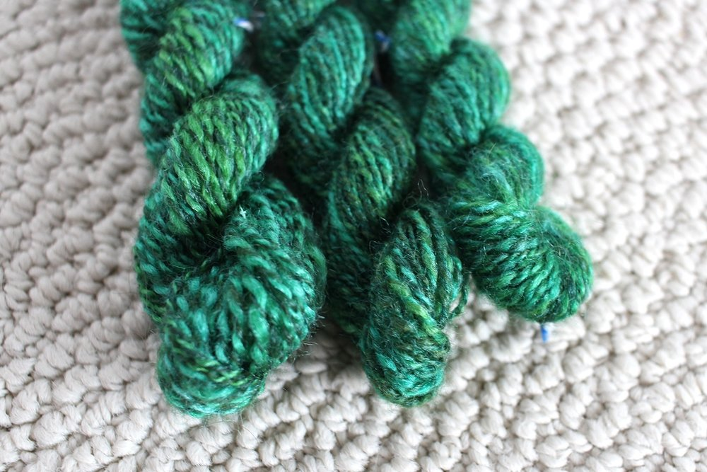 Working small and fast will tell you a lot about how to spin a specific yarn. Like how to handle color, spin consistently, what to measure, and what not to do. | withwool.com