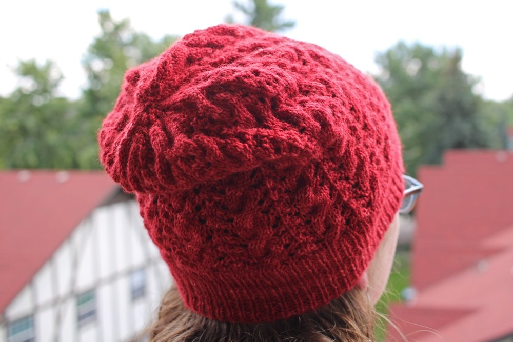 It's still warm around here, but I know winter is coming. New red hat to the rescue! | withwool.com