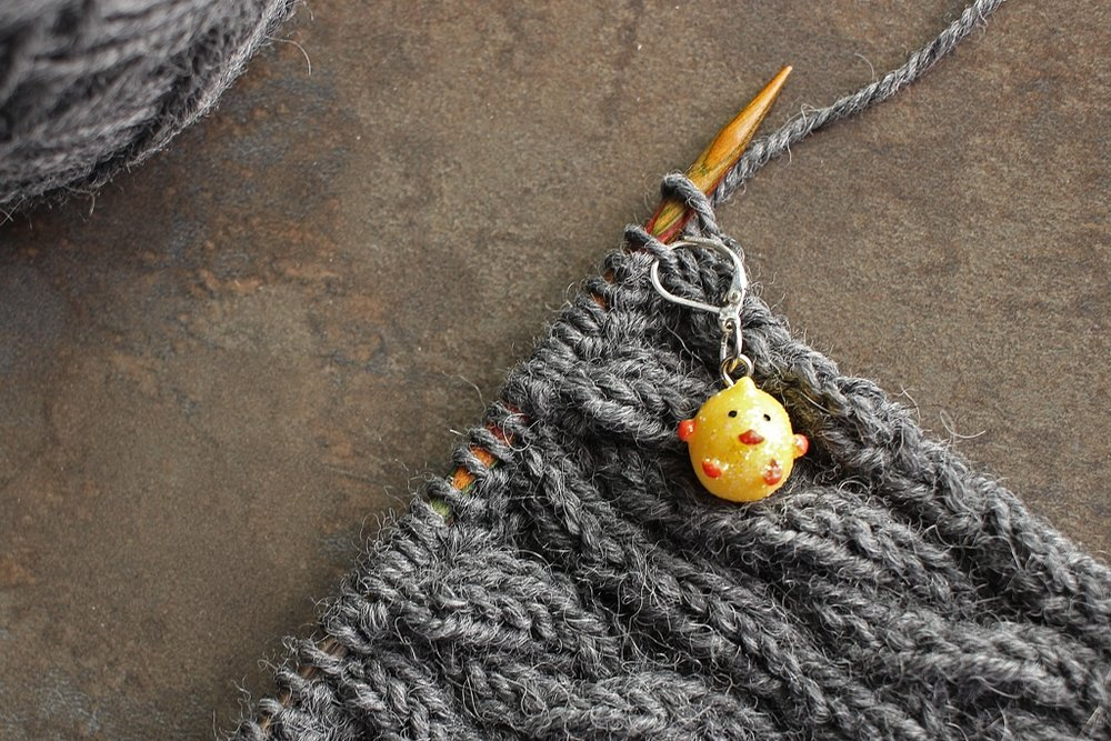 Losing count of cable rows? Use a locking stitch marker to keep track! #knitting | withwool.com