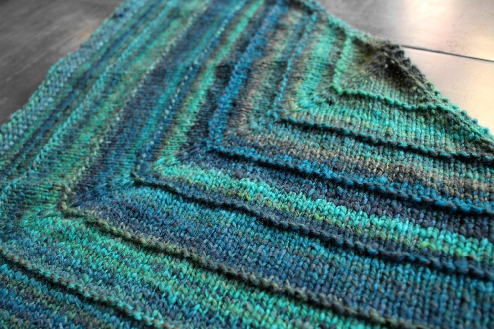 Handspun yarn + Procrastination = The Perfect Shawl #knitting | withwool.com