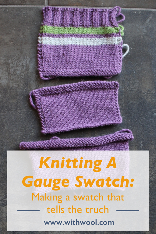 #Knitting a gauge swatch is an important first step in making a sweater. So how do you make an accurate swatch? | withwool.com