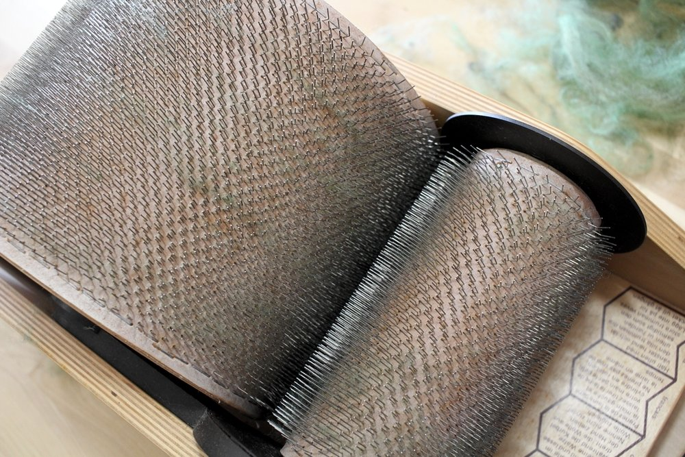 Chunks of fiber stuck in your drum carder? Get a pair of forceps to get those pesky fibers! | withwool.com