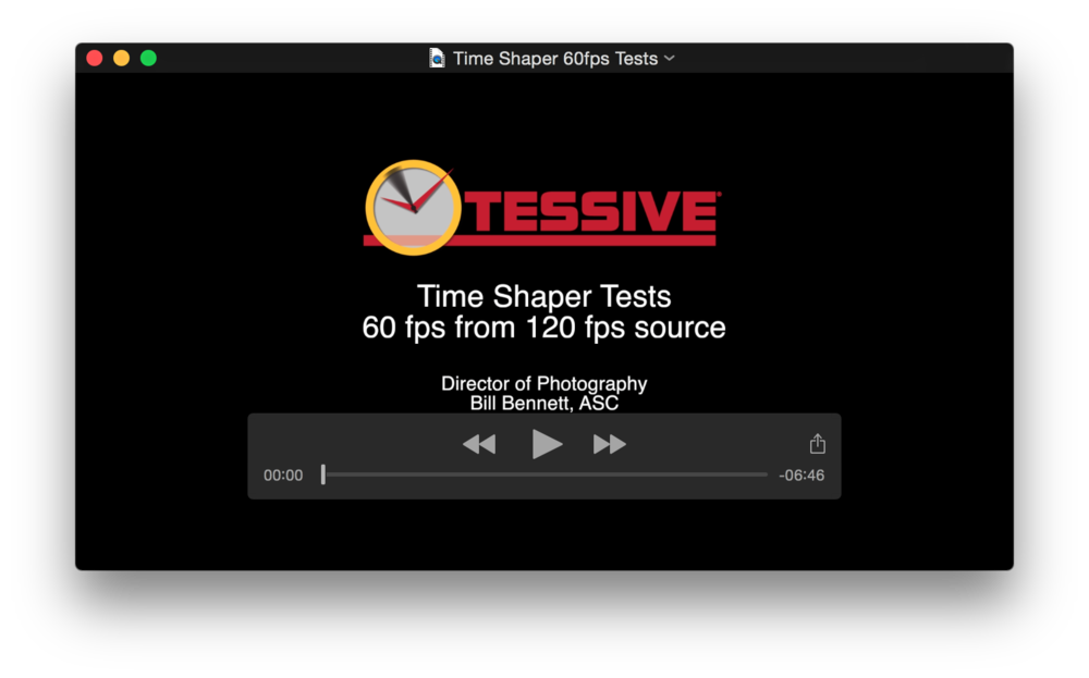 Download the 60 Frame Per Second Demonstration Clip