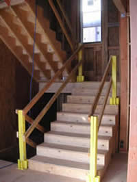Workplace Safety: Our sites are always geared for safety. New staircases have safety railings, regularly scheduled site clean-ups, and locked doors are just a few of the things we do to keep your project secure.