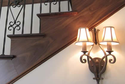 Staircase | Wood Stairs | Indoor Lighting | Fancy Iron Lights