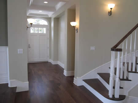 Home Entrance way | Front Door | Custom Home | Beach Homes | Wood Stairs | Staircase