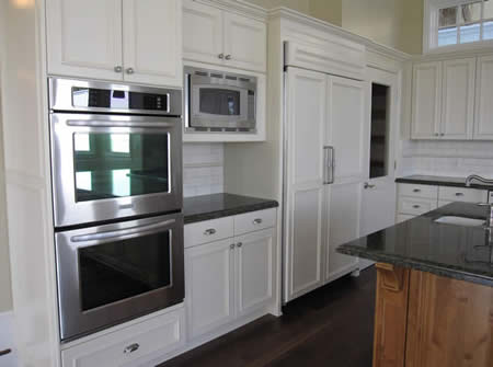 Matching fridge panels | Wood Fridge Panels | Custom Home | New Kitchen | Manhattan Beach Homes