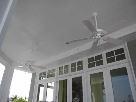 Custom Porch | Outdoor Living | BBQ Patio | Glass Doors | Ceiling Fans | Outdoor Celing Fans