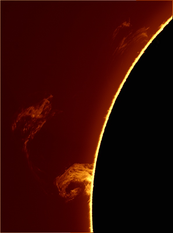 """..prominence was taken SS and at 1250mm FL. Chameleon camera.Thanks Jesús"""