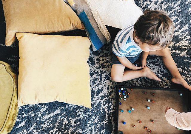 pillow forts + marbles  #papekidssummer