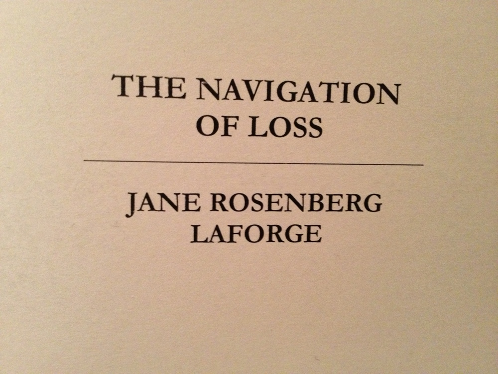 """The Navigation of Loss""  poetry collection, published in 2012, is available for $11 through PayPal from Red Ochre Press."