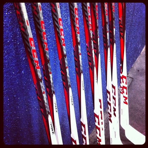 The new CCM RBZ stick. All the kids at #ccmskillscamp get to try them out. #jealous (Taken with Instagram at National Sports Center)