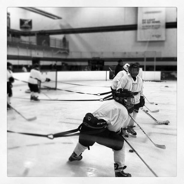 Hockey Blogging for CCM. #ccmskillscamp (Taken with Instagram at Schwan Super Rink - National Sports Center)