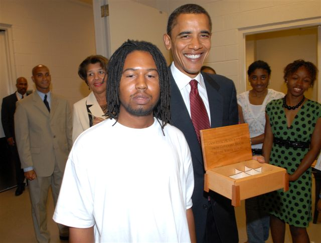 Box for candidate Obama