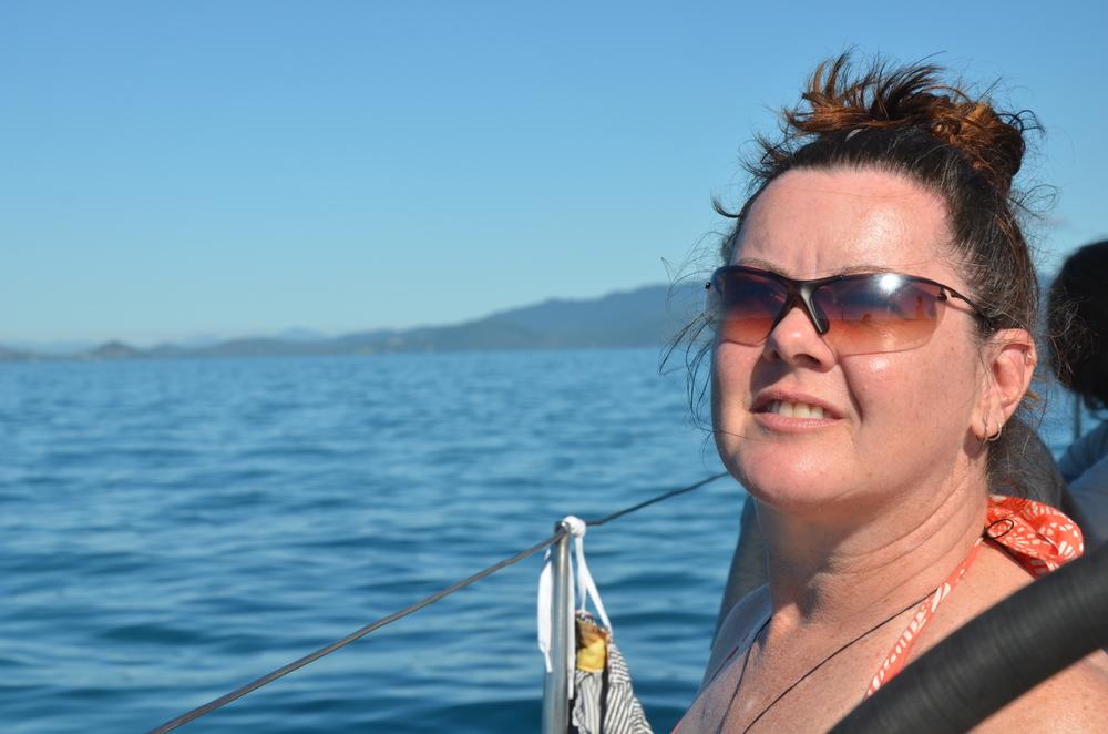 Sailing through paradise...