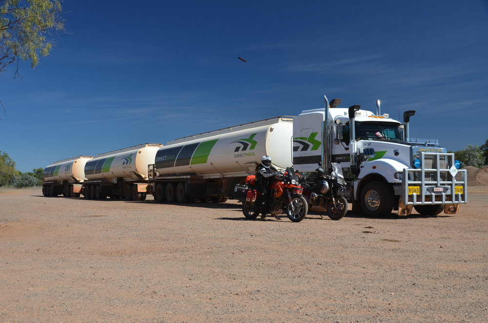 Sizing up a road train!