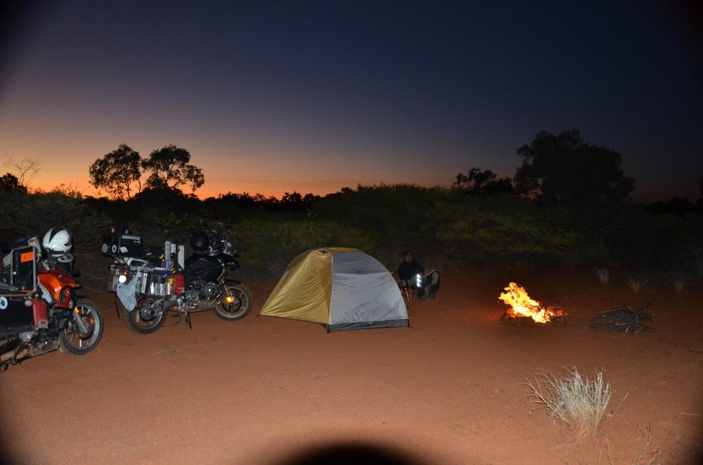 Bush camping.