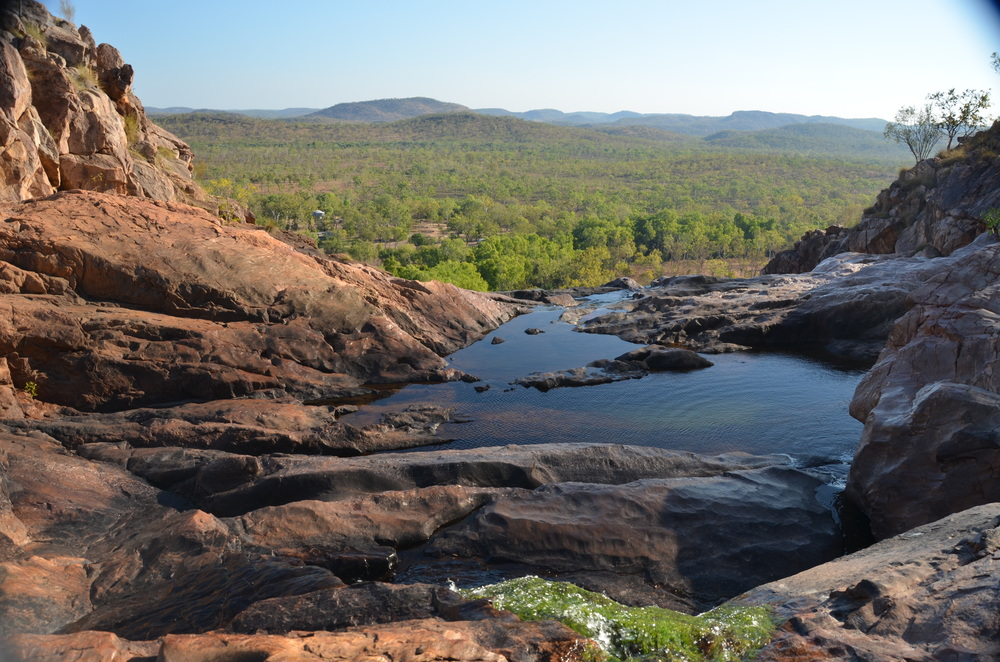 The view from the top of Gunlom Falls, Kakadu.