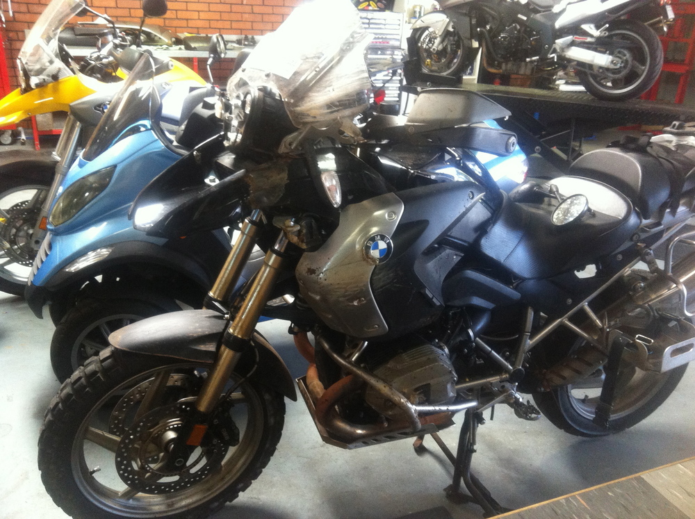 Kev's bike safely delivered to Morgan's Motorcyles in Albany, WA.