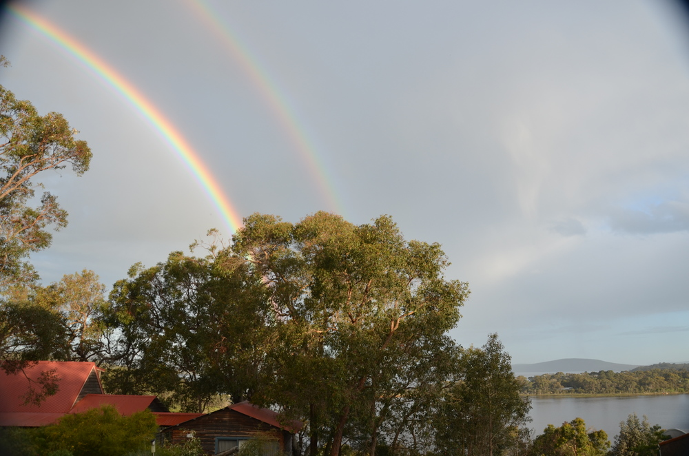 Lucky double rainbow over Debbie and Rob's house!