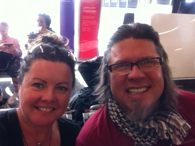 Kev & Cat at Perth Airport flying back to Melbourne.